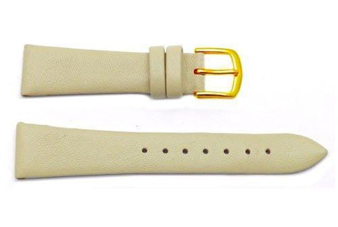 Hadley Roma Beige Genuine Lambskin Flat Leather Watch Strap