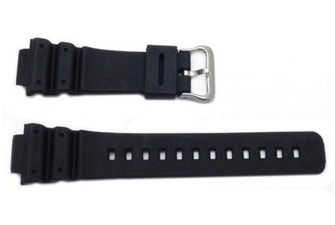 Black Rubber B-P144-G Watch Strap