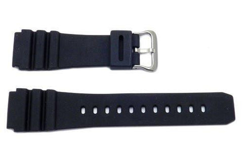 Black Rubber B-P148 Watch Strap