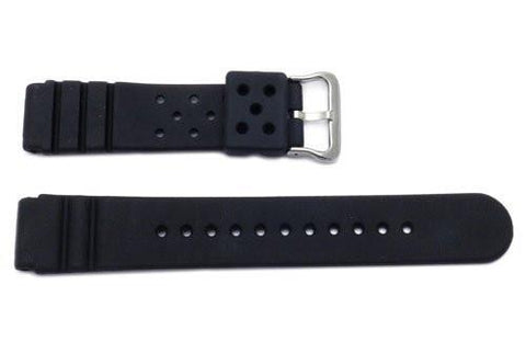 Black Rubber Watch Strap