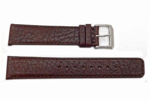 Kenneth Cole Genuine Textured Brown Leather Square Tip 20mm Watch Band