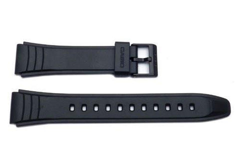 Genuine Casio Black Resin 28.5/19mm Watch Strap - 10160334