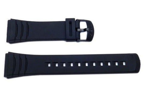 Genuine Casio Black Resin Watch Strap - 10169264
