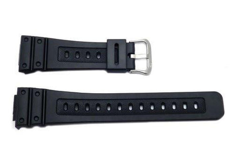 Genuine Casio Black Resin 18mm Watch Band - 10186132