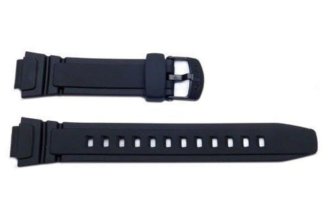 Genuine Casio Black Resin Watch Strap With Black Buckle - 10212268