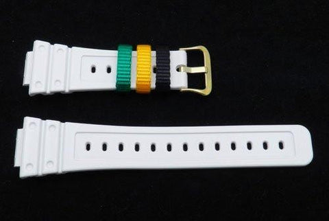 Genuine Casio Resin White Glossy Watch Strap - 10288785