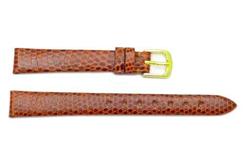 Hadley Roma Genuine Java Lizard Flat Elegant Tan Watch Strap