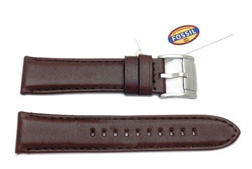 Fossil Dark Brown Smooth Leather 22mm Watch Band