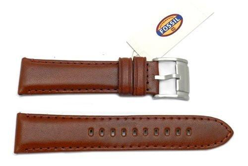 Fossil Brown Smooth Leather 22mm Watch Band