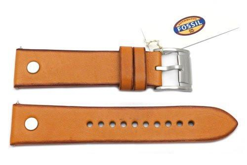 Fossil Light Brown Genuine Leather 22mm Watch Band