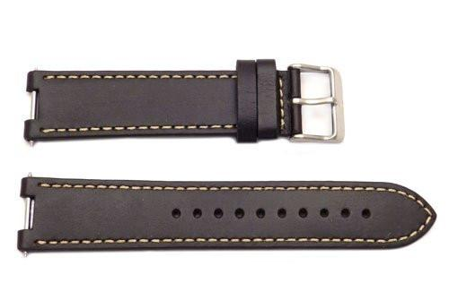 Genuine Swiss Army Night Vision 21mm Brown Leather Watch Strap