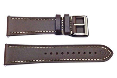 Swiss Army Infantry Series Dark Brown Leather 23mm Watch Band