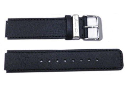 Kenneth Cole Genuine Black Leather Square Tip 15mm Watch Strap