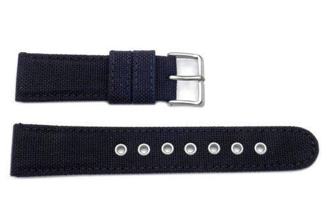 Genuine Citizen Black Nylon and Leather 22mm Watch Strap
