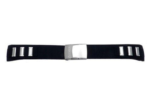 Genuine Citizen Black Polyurethane 23mm Watch Strap