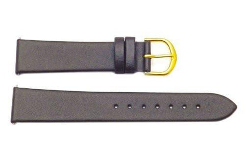 Timex Dark Brown Genuine Calfskin Leather 18mm Watch Band