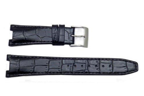 Seiko Coutura Black Textured Calfskin Alligator Grain 20/9mm Watch Strap