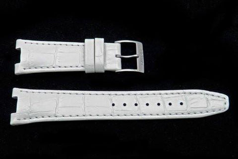 Seiko Coutura White Textured Calfskin Alligator Grain 20/9mm Watch Strap