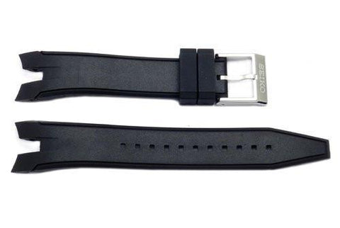 Seiko Sportura Black Polyurethane 21mm Watch Strap