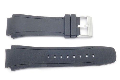 Kenneth Cole Black Rubber 28/20mm Watch Strap KC1612 BLK