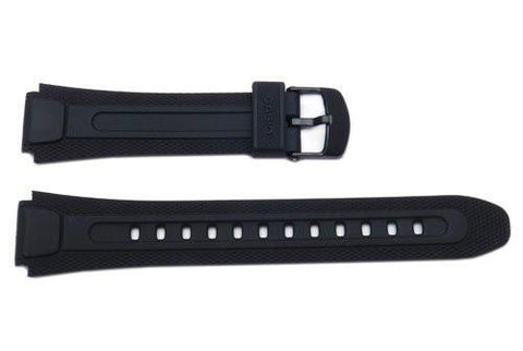 Genuine Casio Black Resin 24.5/18mm Watch Strap - 10194983
