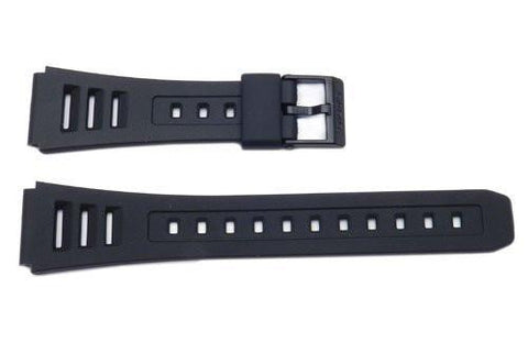 Genuine Casio Black Resin 23.5/19mm Watch Strap