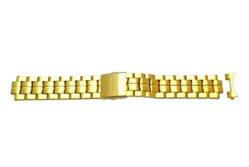 Seiko Gold Tone Push Button Release Clasp 21mm Watch Bracelet