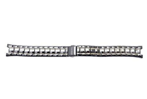 Seiko Dual Tone Stainless Steel Push Button Fold-Over Clasp 15/7mm Watch Bracelet