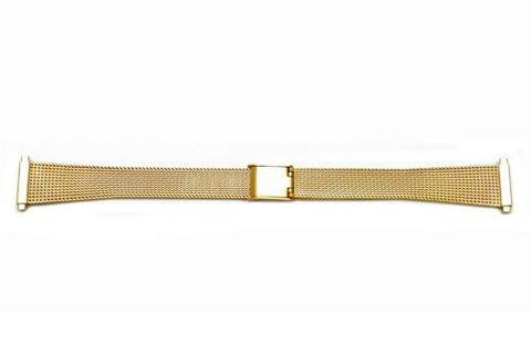 Hadley Roma Ladies Gold Tone Mesh Style Watch Bracelet Size 14-17mm