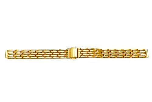 Hadley Roma Ladies Flat Link Design Gold Tone Watch Bracelet