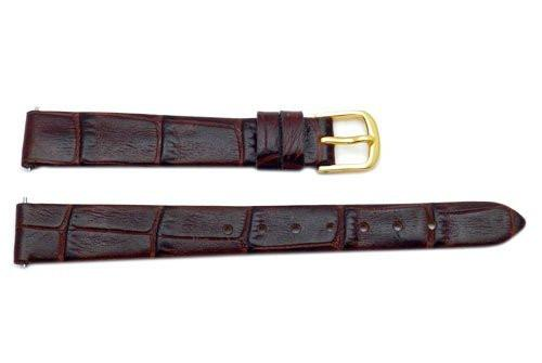 Hadley Roma Brown Alligator Grain Leather Watch Band