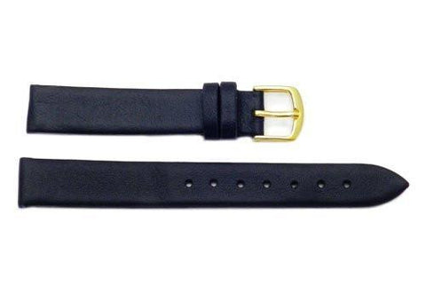 Hadley Roma Ladies' Smooth Genuine Flat Leather Watch Strap