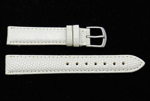 Hadley Roma Pearl Genuine Java Lizard Light Padding Thin Watch Band