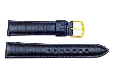 Hadley Roma Genuine Java Lizard Black Watch Band
