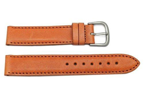 Hadley Roma Men's Tan Self-Lined Genuine Leather Watch Band
