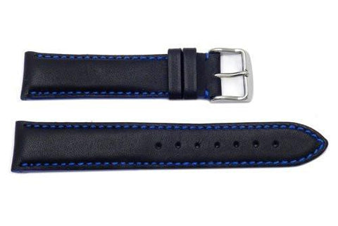 Hadley Roma Blue Color Contrast Sport Leather Watch Strap