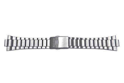 Seiko Light Weight Stainless Fold Over Clasp With Push Button Watch Bracelet