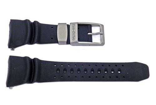 Citizen Black Rubber Eco-Drive 35mm Watch Strap