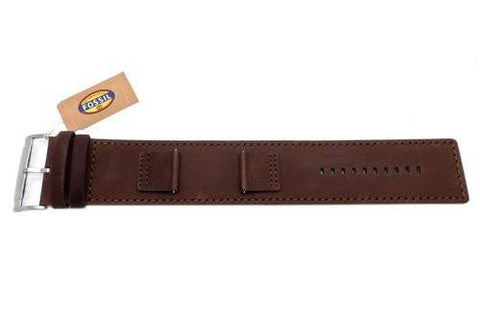 Fossil Brown Smooth Genuine Heirloom Leather 22mm Wide Watch Cuffband