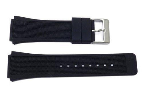 Kenneth Cole Black Polyurethane 28/22mm Watch Band - KC1405