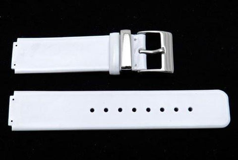 Kenneth Cole Genuine White Pigskin Leather Square Tip 19mm Watch Strap