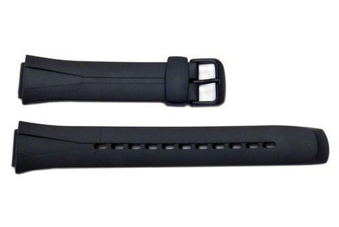 Genuine Casio Black 17/16mm Resin SolarPower Watch Band