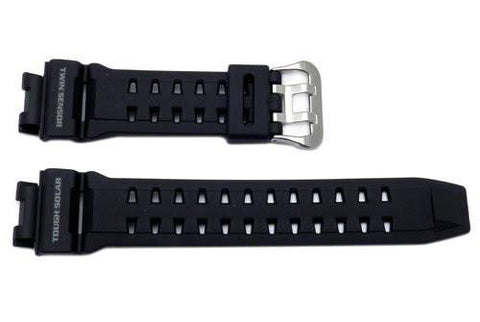 Genuine Casio Black Resin 26/16mm Watch Strap - 10297191