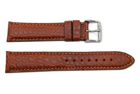 Hadley Roma Tan Genuine Matte Alligator Leather Watch Strap