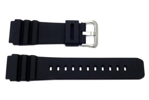 Genuine Casio Black Resin 31.5/20mm Watch Strap - 10406454