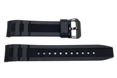 Genuine Casio Black Resin 31.5/20mm Watch Strap With Black Tone Buckle