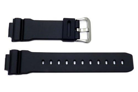 Genuine Casio Black Resin 16mm Watch Band- 10025152
