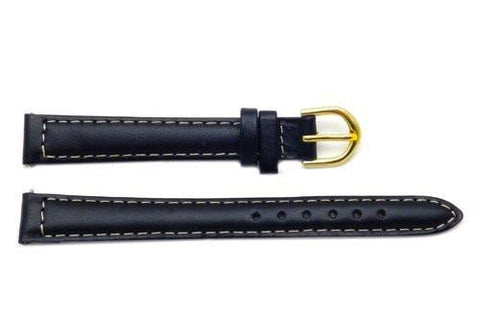 Timex Ladies Black Genuine Calfskin Leather 12mm Watch Band