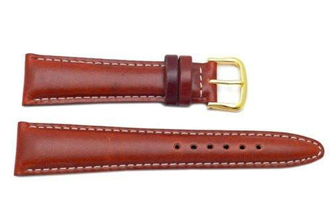 Seiko Brown Genuine Smooth Leather 20mm Watch Band
