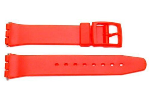 Red Smooth Swatch Style Watch Strap - B-P146